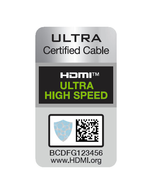 HDMI Ultra High Speed holographic sticker sample KSF 1.0.0